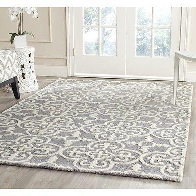 296 Safavieh Cambridge Silver Ivory Wool Area Rug 6 X