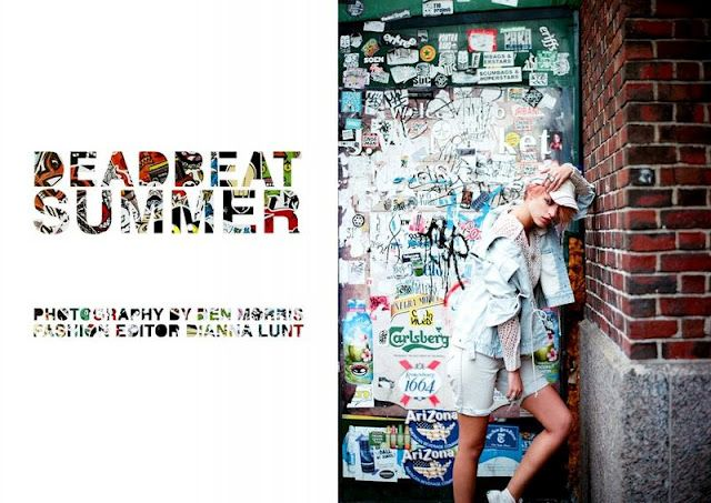 / Deadbeat Summer /  Contributing Editor  Fotografía:  Ben Morris  Editora: Dianna Lunt  Modelo: Jade Jackson  Estilista: Dianna Lunt