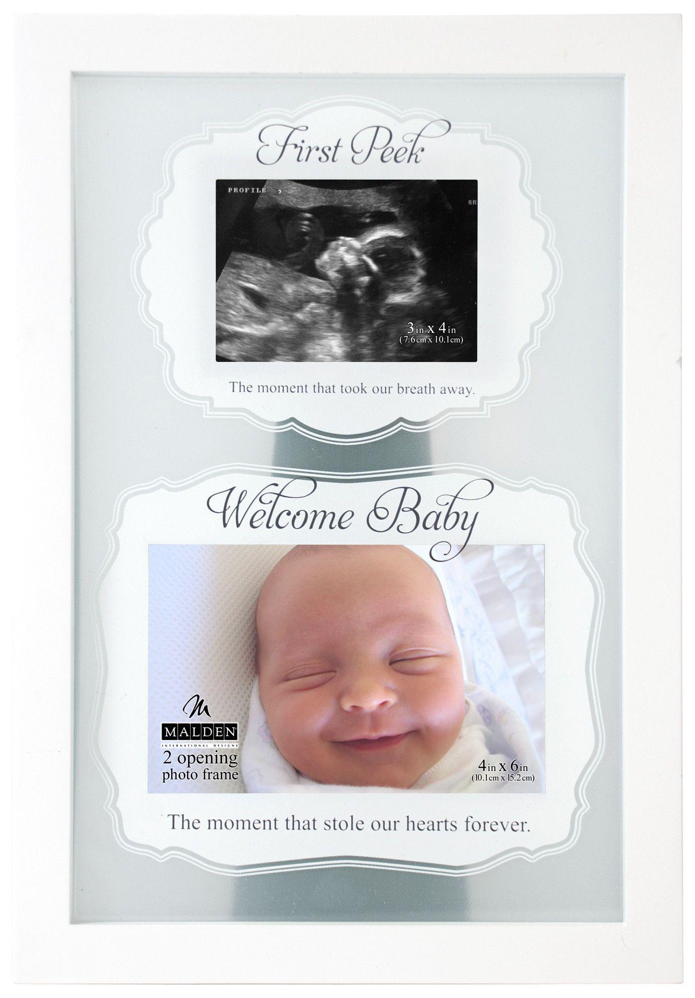 Malden 2 Opening First Peek Sonogram Picture Frame | Wayfair ...