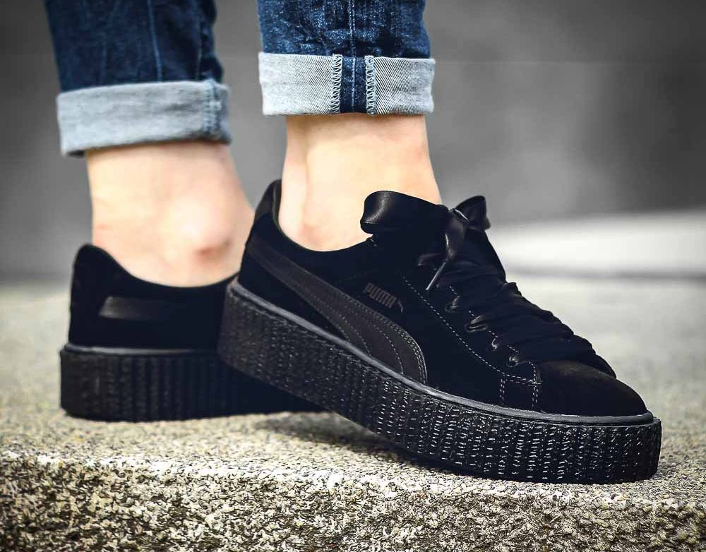 9209fb93 puma fenty | Fenty by Rihanna x Puma Suede Creeper Satin Triple ...