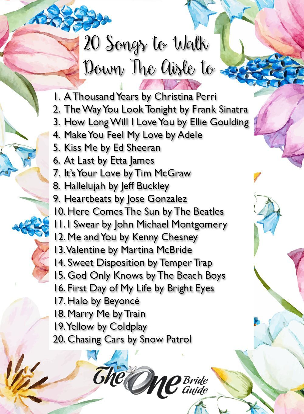 20 Songs to Walk Down The Aisle To Wedding ceremony
