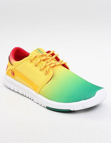 Etnies Scout Shoe Green White Yellow Schuhe