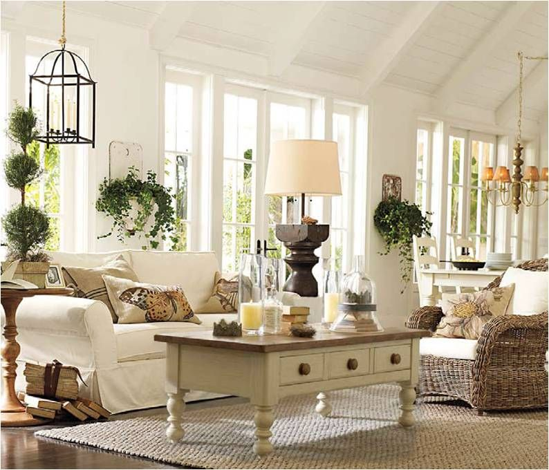 Pottery barn spotted pottery barn s spring collection - Pottery barn living room furniture ...