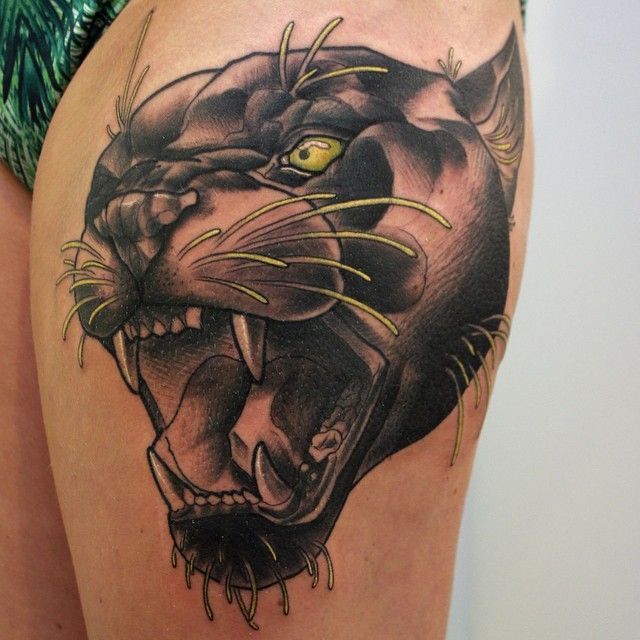 80 Elegant Black Panther Tattoo Meaning And Designs Gracefulness In Every Move Black Panther Tattoo Panther Tattoo Traditional Tattoo