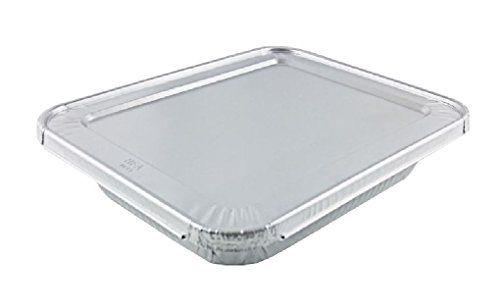 1 2 Halfsize Deep Aluminum Steam Pan W Lids 100 Pk Disposable Trays Cookware Packaging Steam Table Pans Steam Tables