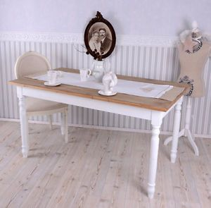 esszimmer tisch shabby chic esstisch weiss k chentisch wohnzimmertisch ebay k chentisch. Black Bedroom Furniture Sets. Home Design Ideas