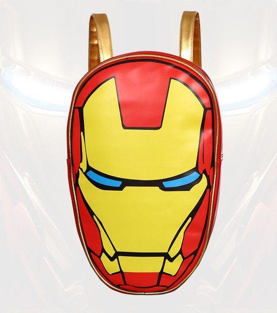 e78896eb835f FVIP School Bag Captain America Iron Man Backpack Fashionable Laptop Ipad  Backpacks High Quality Leather