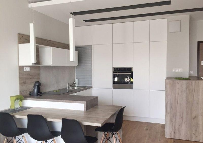 Plan de travail cuisine 50 id es de mat riaux et couleurs cuisine plan de travail cuisine - Petite cuisine integree ...
