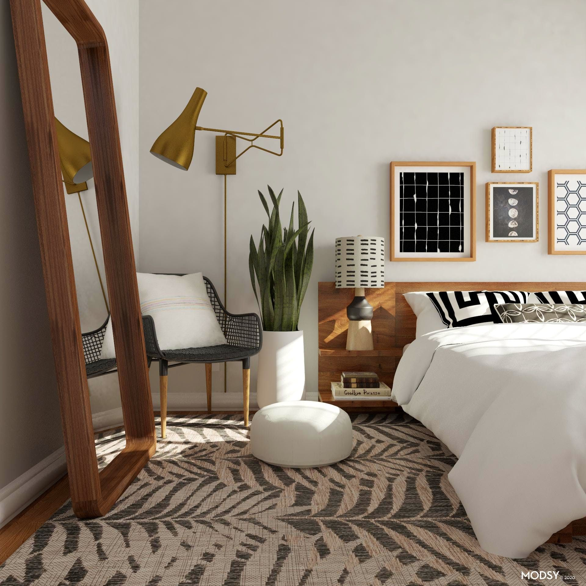 Geomeclectic Bedroom Mid Century Modern Style Bedroom Design Ideas In 2020 Modern Style Bedroom Eclectic Bedroom Design Eclectic Bedroom