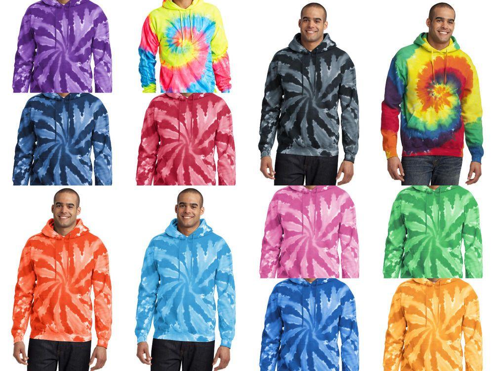 New mens tiedye hoodie tye dyed hooded sweatshirt s m l