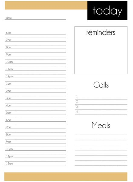 Free printable daily planner from DomesticMammaau – Printable Daily Planner