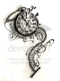 Resultado de imagen de rabbit and clock tattoo
