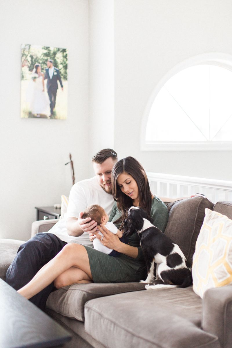 an at home newborn lifestyle session