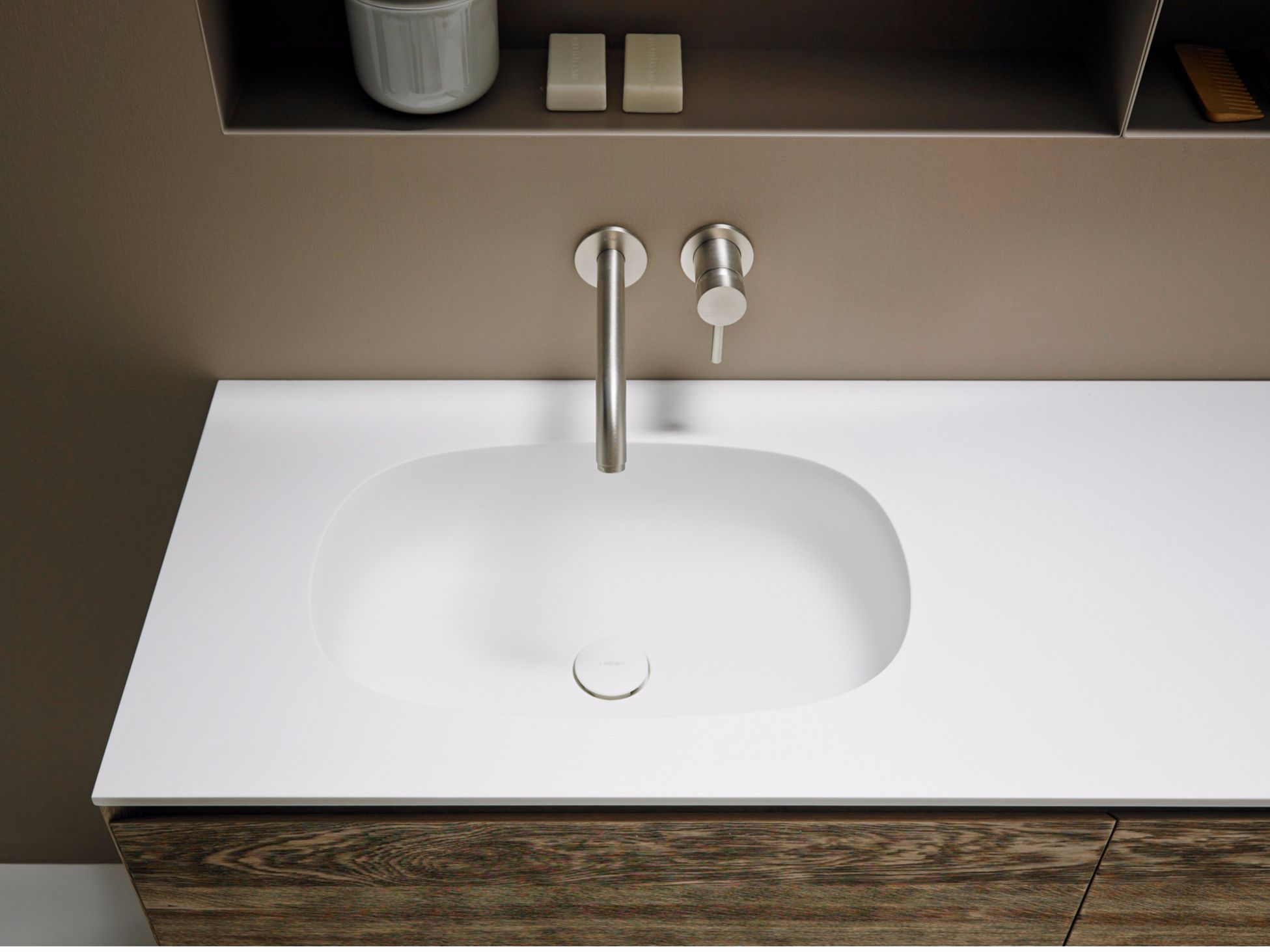 Corian Washbasin Countertop Ovalo By Inbani Countertops Wash
