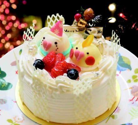 コロンと並んだインコがキュート ことりカフェに X Masインコケーキ えん食べ ケーキ ケーキ デコレーション クリスマスケーキ