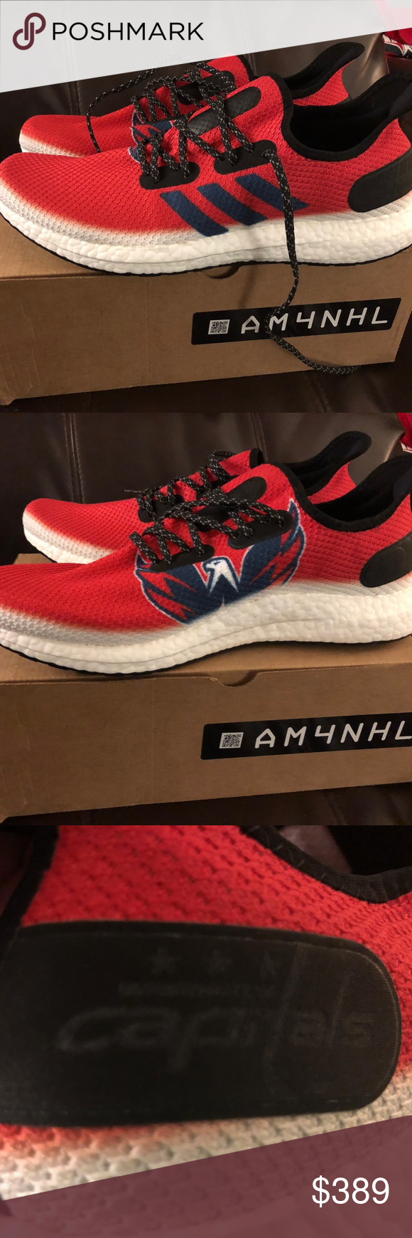 adidas SPEEDFACTORY AM4NHL Washington Capitals adidas SPEEDFACTORY AM4NHL  Washington Capitals Stanley Cup Shoes NEW adidas Shoes Athletic Shoes 29509f4479e4