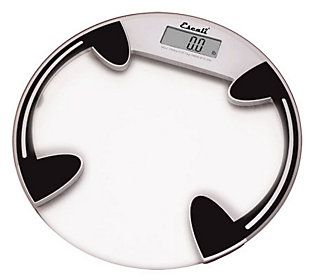 Escali Glass Platform Bathroom Digital Scale 400 Lb Round Escali Bath Scale Glass Bathroom
