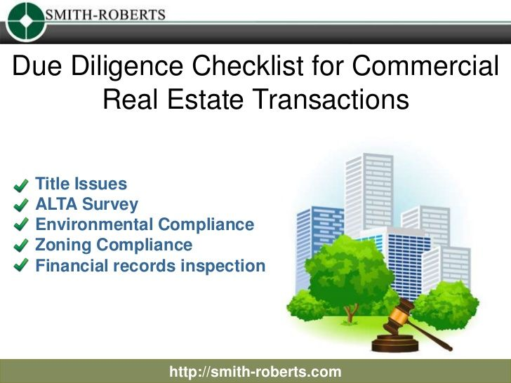 Due Diligence Checklist For Commercial Real Estate Transactions