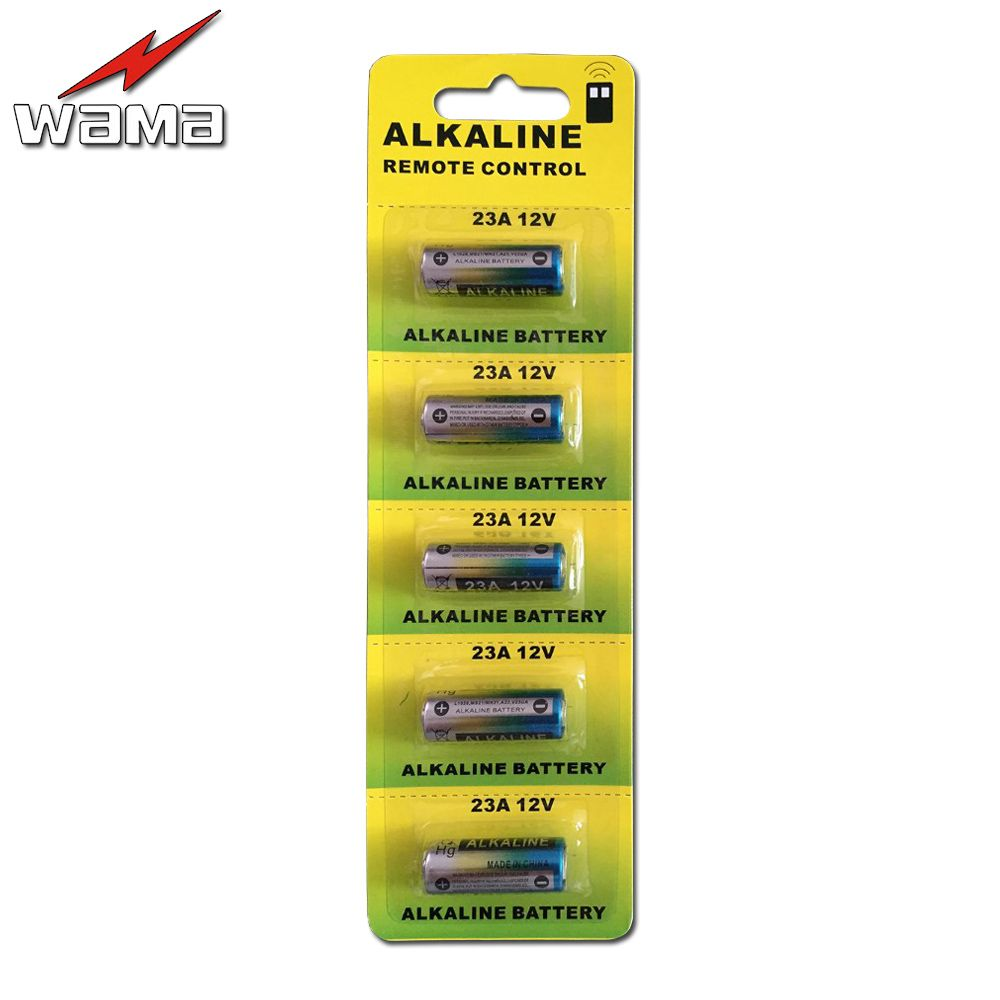 5 Stks Pak Wama 23a 12 V Alarm Remote Droge Alkaline Batterij 21 23 23ga A23 A 23 Gp23a Rv08 Lrv08 E23a V23ga Mn21 Vr22 Ms21 23ae Alkaline Battery Shipping Tags Remote Control