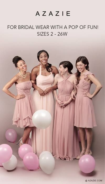 8f8edf1a1de5 dusty rose and one blushing pink azazie | Wedding | Bridesmaid ...