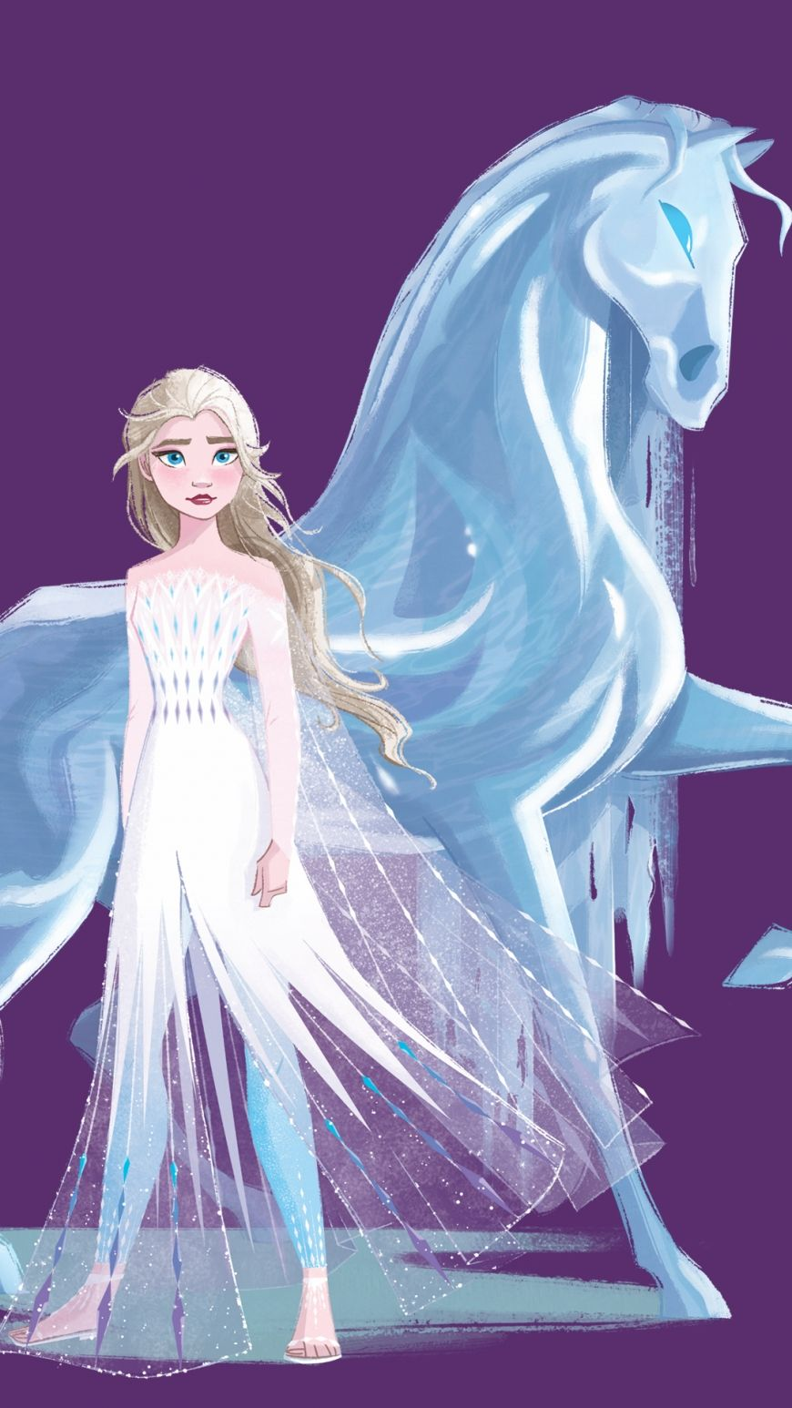 Frozen 2 Hd Background Elsa White Dress Nokk In 2020 Disney Princess Pictures Frozen Art Disney Princess Fashion
