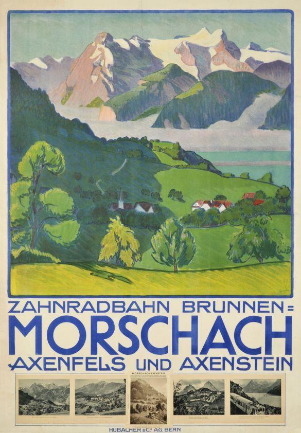 Gummi 1914 Zahnradbahn Brunnen - Morschach - Axenfels und Axenstein