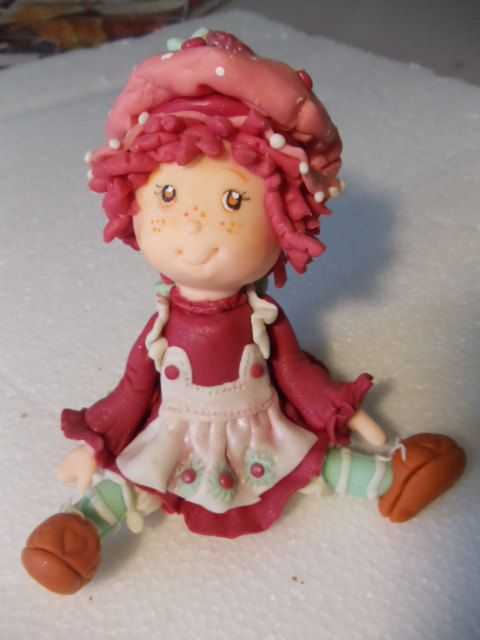 Strawberry Shortcake Cake Topper Step by Step  by Cupncakesgourmet, $12.99