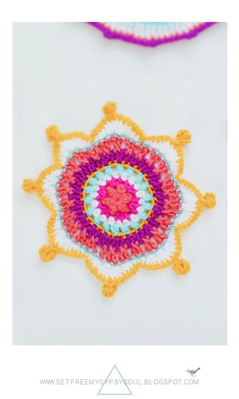 3 Bright Bohemian Mandalas to Crochet | Mandalas, Patrones y Labores