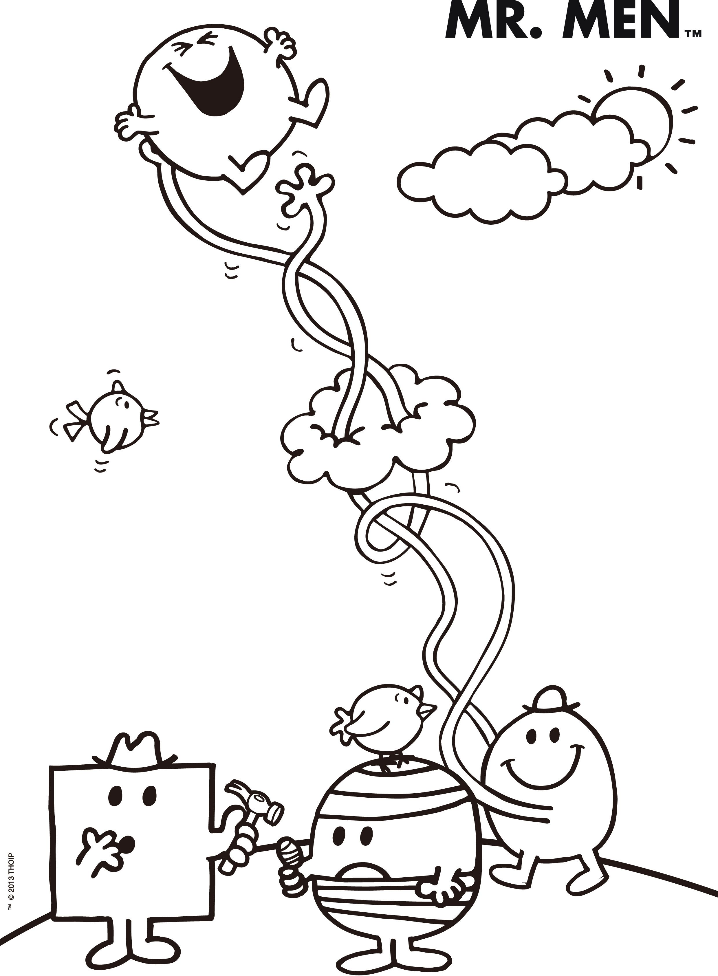 Mr Men Printable Coloring Pages Thousand Of The Best