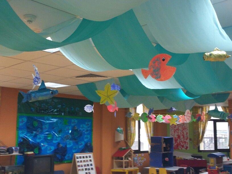 Classroom Decoration Hanging Ideas ~ Best classroom ceiling ideas on pinterest