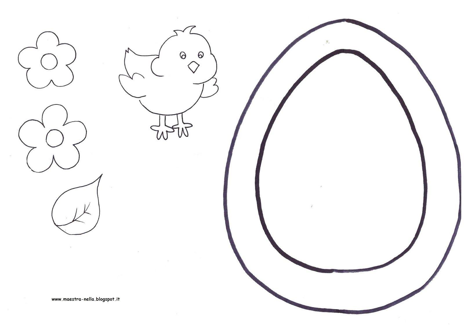 Disegni idee e lavoretti per la scuola dell 39 infanzia e - Modello di uovo stampabile gratuito ...