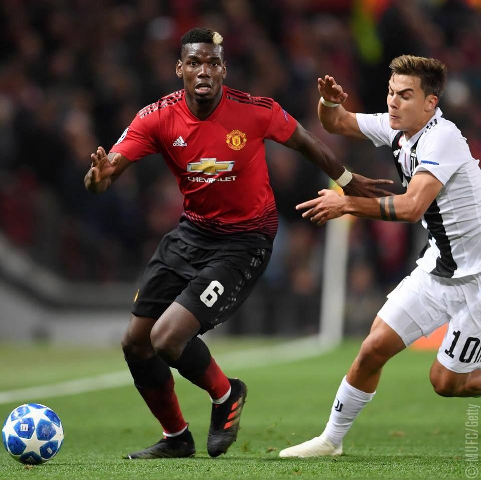 Pogba. United v Juventus Old Trafford. October 23 2018