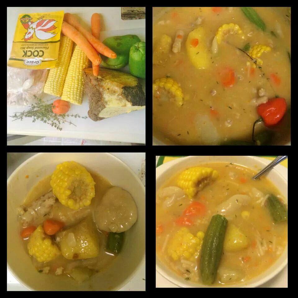 jamaican chicken noodle soup  soup  pinterest  soup