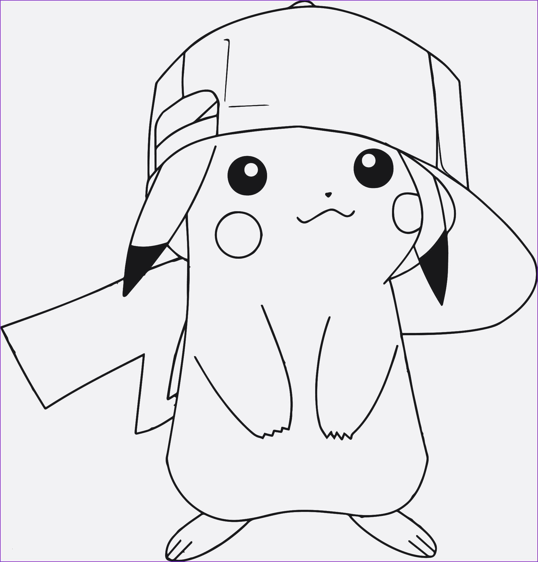 Ausmalbilder Pokemon Pikachu