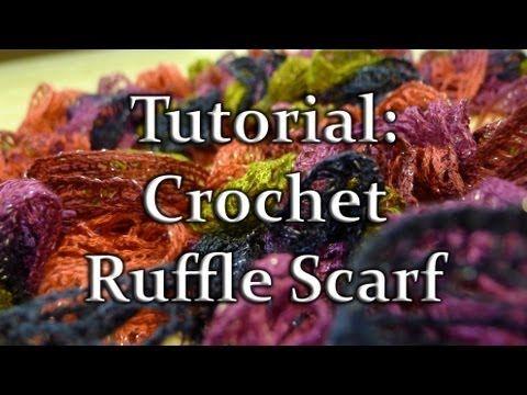 Crochet Ruffle Scarf with Sashay Yarn | bufandas | Pinterest ...