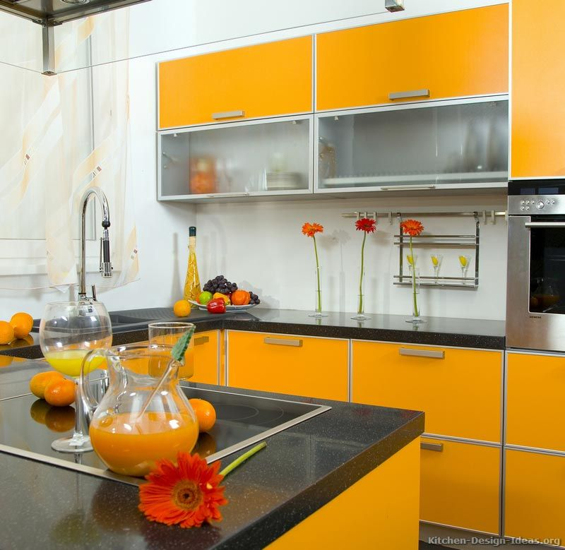 White Kitchen With Orange Accents Design Ideas: #Kitchen Of The Day: This Modern Kitchen Is Ripe With