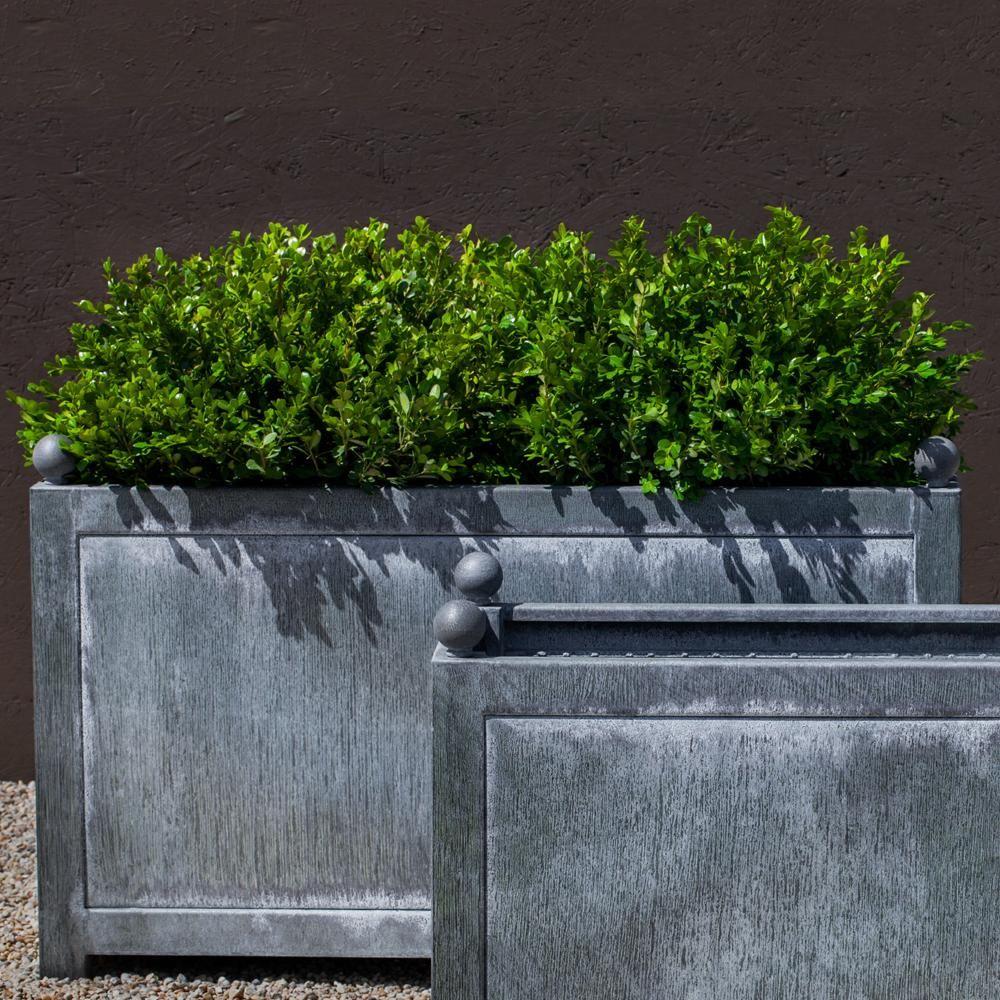 pin rectangle campania manoir coated planters oak planter international steel zinc with