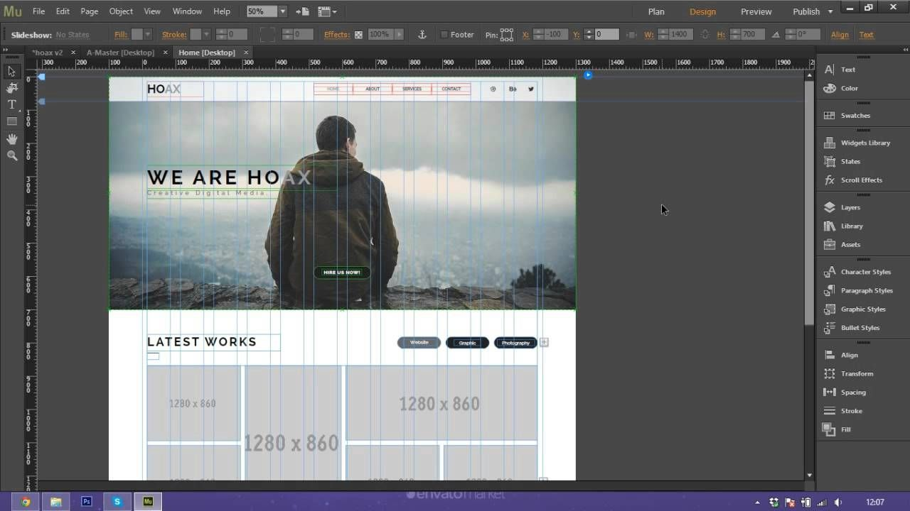 How To Use And Customize Adobe Muse Template Hoax Adobe Muse Muse Templates