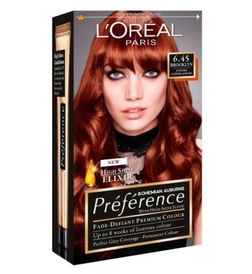 LOreal Preference Brooklyn 6.45 - intense copper auburn ...