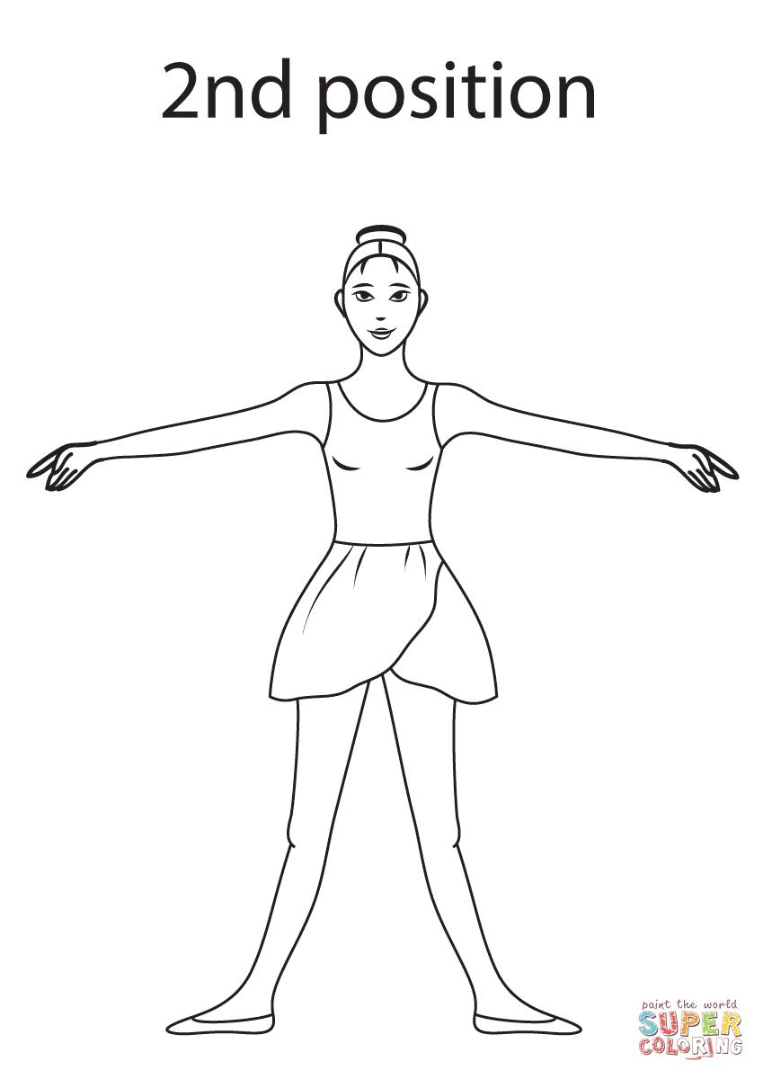 Ballet 2nd Position Super Coloring Dance Coloring Pages Dance Positions Ballet Positions