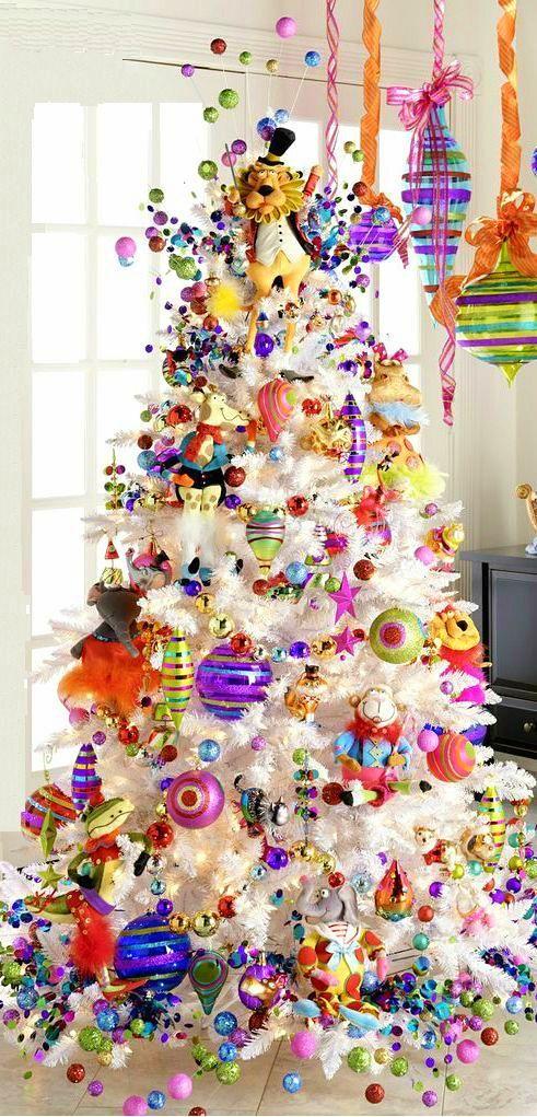 Repinned via Christmas Light Source | Funky tree decorations ...