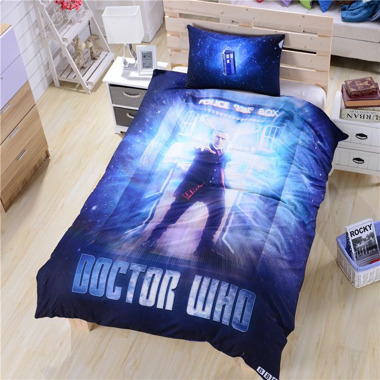 Twin Doctor Who Bedding Bed Sheets Secret New Unique Bed Sheet