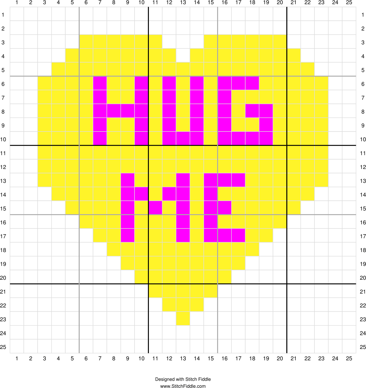 Conversation Heart Corner To Corner Graph 5 With Images