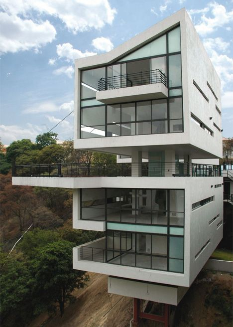 Mexico City  Casas House On A Cliff Building Design - Modern house on cliff