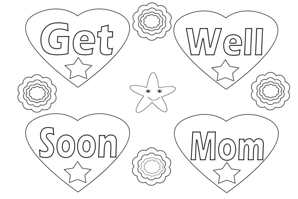 Get Well Soon Coloring Pages Coloring Pages Free Coloring Pages Get Well