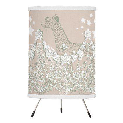 Pastel Garden Leopard Table Lamps Tripod | Zazzle.com