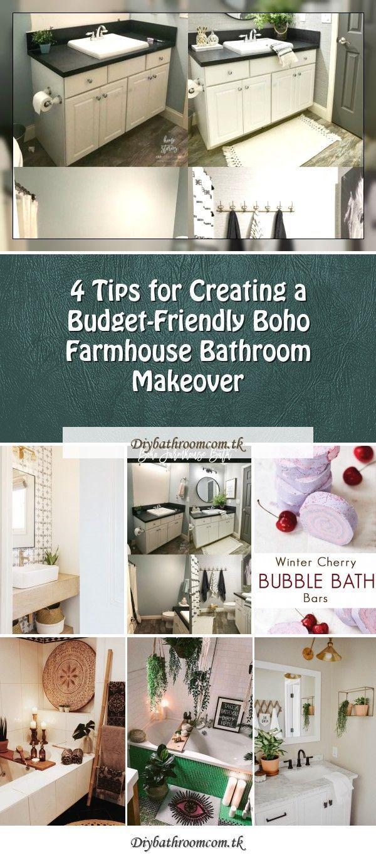 Photo of DIY Budget-Friendly Powder Room Redo – Boho Chic Bathroomboho modern powder room…