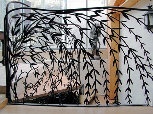 forme des feuilles, branches qui tombent Fer forgé Pinterest