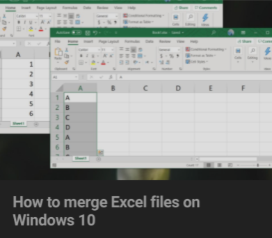 Visit Addictive Tips To Learn How To Merge Excel Files On Windows 10 Excel Windows 10 Learning