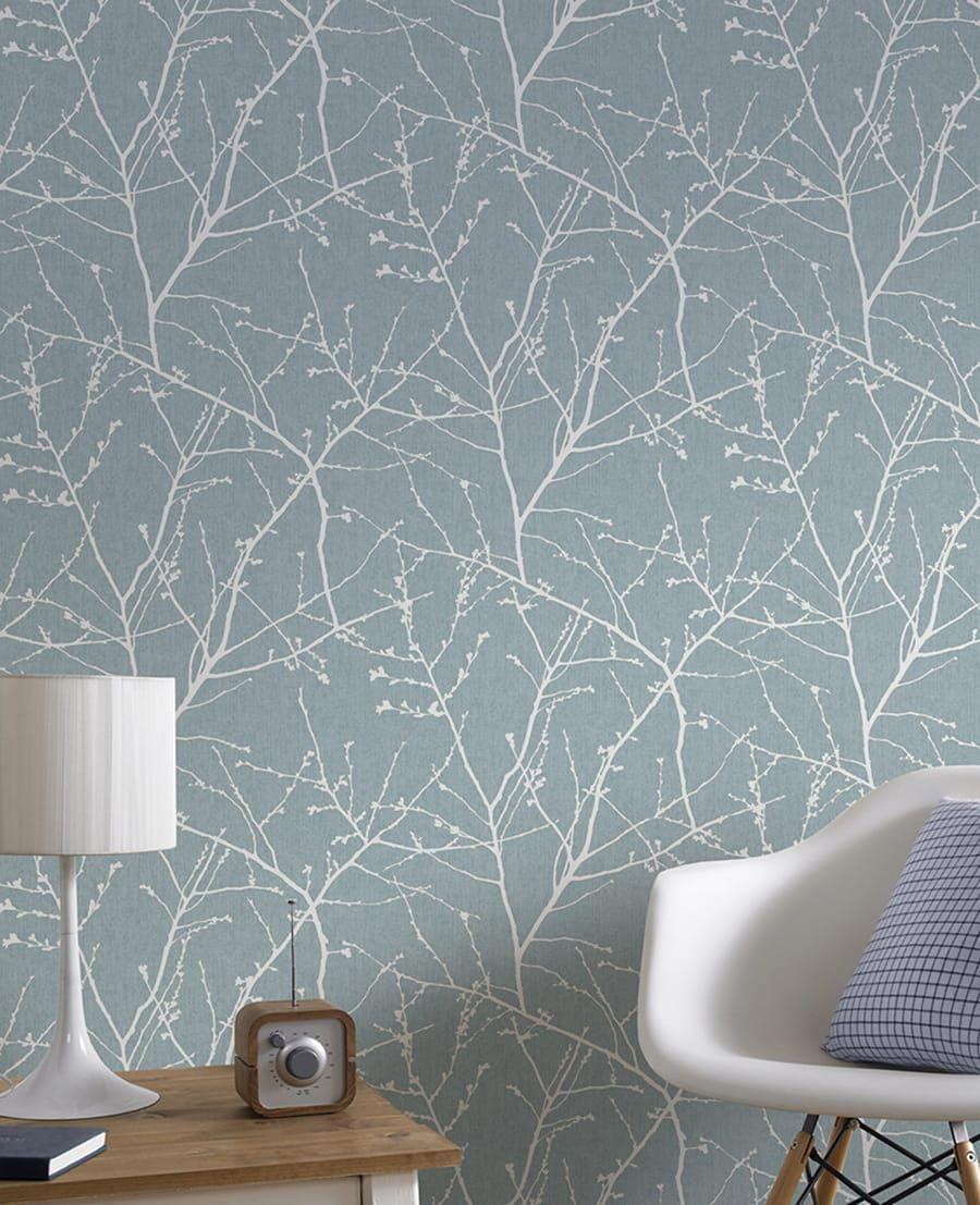 Tapete Innocence | Schlafzimmer | Duck egg blue wallpaper, Simple ...